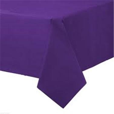 Lüks Mor Renkli Plastik Masa Örtüsü