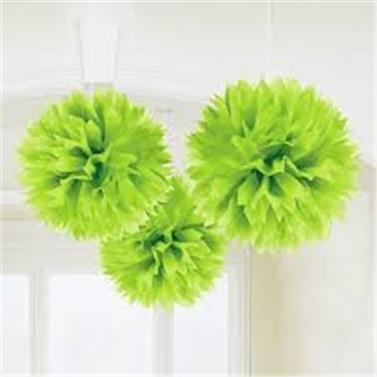 Lüks Ponpon Çiçek Yeşil