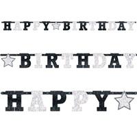 Siyah Yetişkin Happy Birthday Yazı