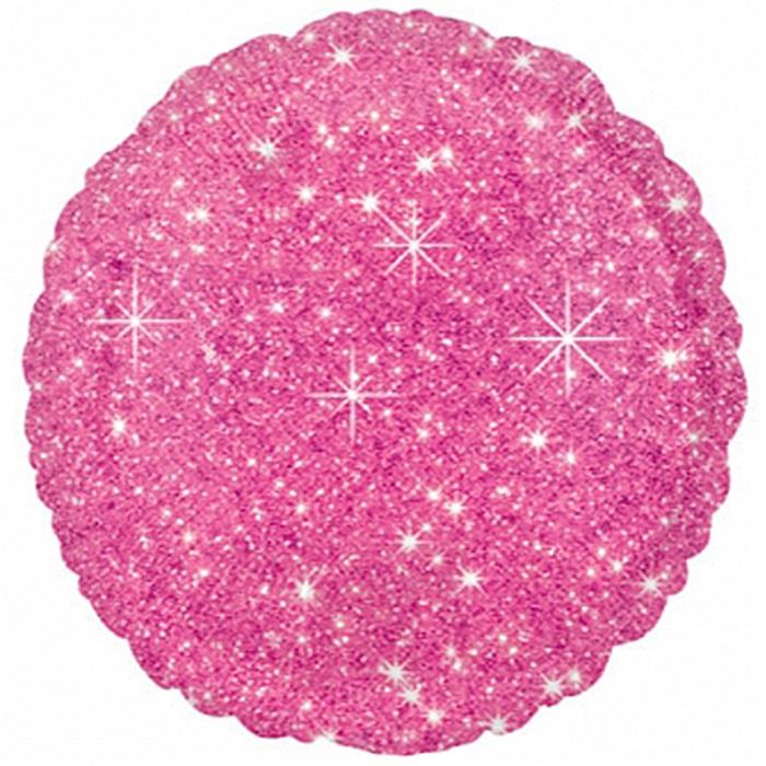 Pembe Yıldızlı Yuvarlak Folyo Balon