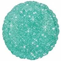 Su Yeşili Yıldızlı Yuvarlak Folyo Balon