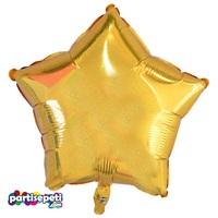 Gold Sim Desenli Yıldız Folyo Balon