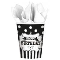 Siyah Beyaz Mutlu Yıllar Bardak